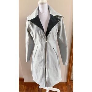 Nike Gray asymmetric raincoat trench jacket M